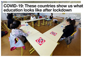 How have countries handled social distancing at school?  Do kids wear masks?  Sit in every other desk?